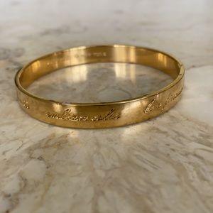 Kate Spade Gold Tone Motivational Bangle Bracelet